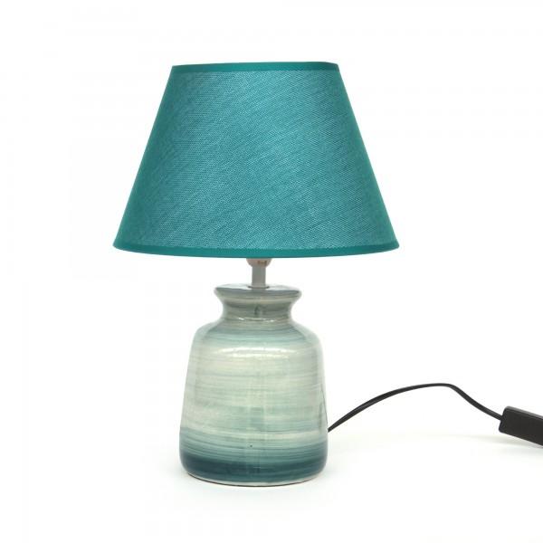 Tischlampe 'Silum', blau, T 25 cm, B 25 cm, H 35 cm