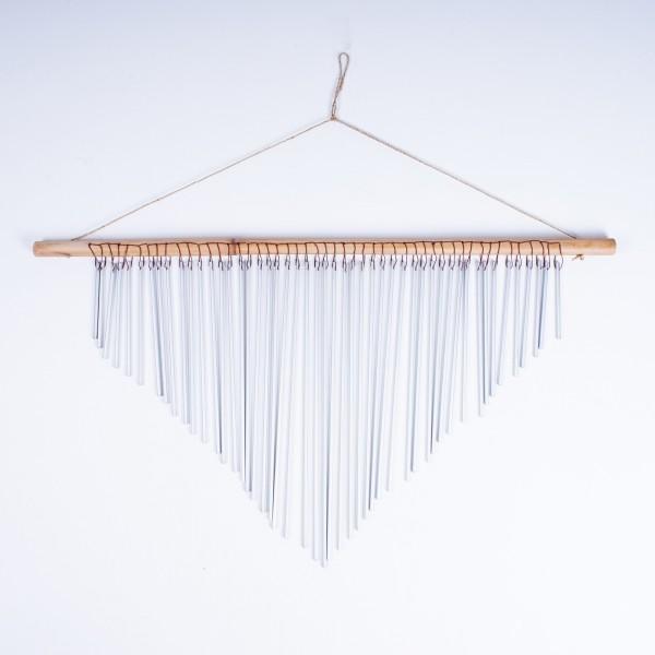 Windspiel aus Rattan, B 60 cm