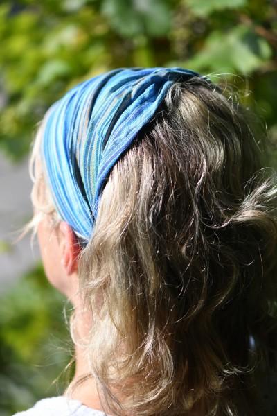 Haarband 'Miami', aus 100% Baumwolle, blau