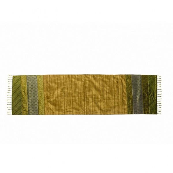 Tischläufer, grün, L 150 cm, B 40 cm