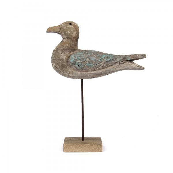 Vogel auf Ständer, natur, T 9 cm, B 25 cm, H 34 cm