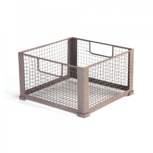 "Stapelbox ""Decin M"", aus Draht, L 33 cm, B 33 cm, H 18 cm"