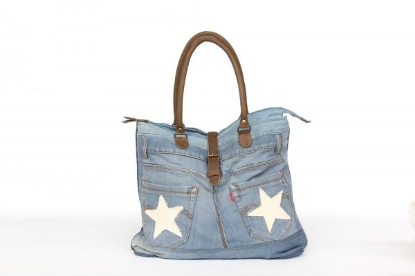 Umhängetasche 'Jeans', blau, T 10 cm, B 43 cm, H 34 cm