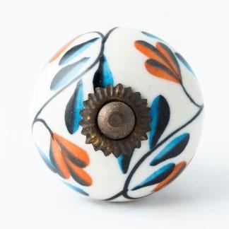 Türknauf rund, blau/rot, Ø 4 cm