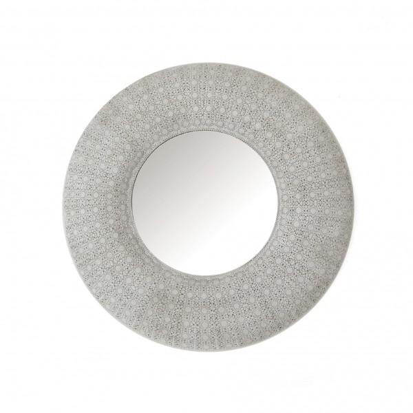 Spiegel rund, grau, Ø 90 cm