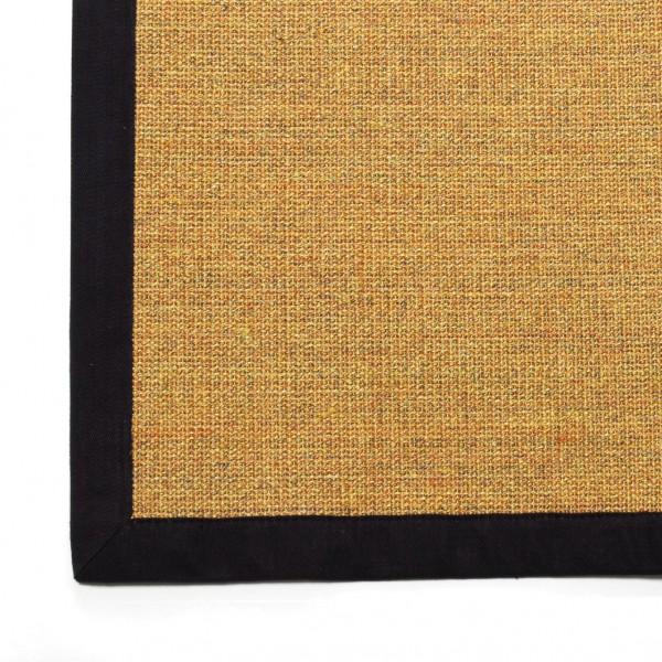 Sisalteppich, schwarz/beige, L 240 cm, B 160 cm