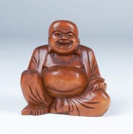 """Handgeschnitzte Buddhafigur """"Chinese Buddha"""", H 13 cm"""