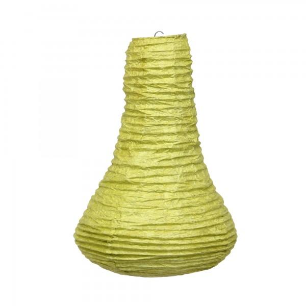 Papierlampe 'Tropfen', senfgelb, Ø 30 cm, H 50 cm