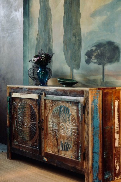 Sideboard 'Sune', natur, Restfarbe, T 45 cm, B 145 cm, H 90 cm