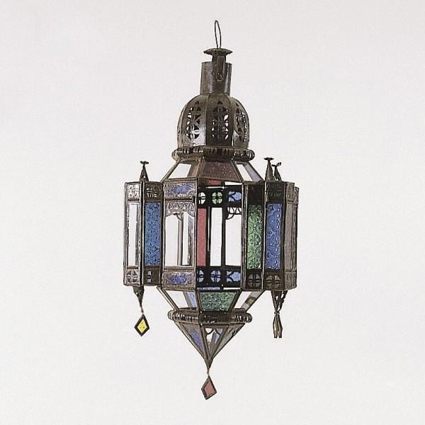 Laterne 'Moulaildate', antik-braun, H 53 cm