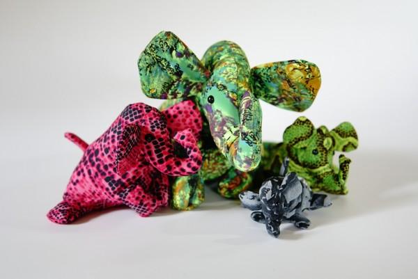 Sandtier 'Elefant' L, multicolor, T 19 cm, B 16 cm, H 10 cm