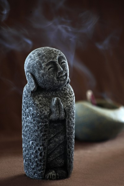 Zementfigur 'Jizo', L 8 cm, B 8 cm, H 20 cm