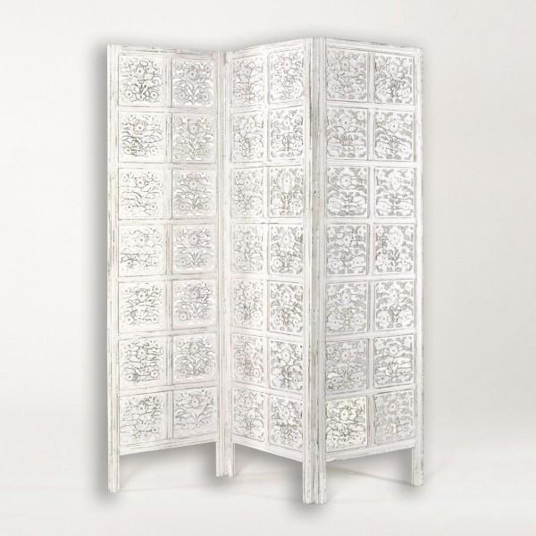 """Paravent """"Hewele"""", weiß, B 150 cm, H 182 cm"""