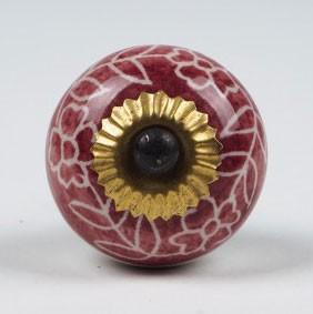 Türknauf rund, rosé, Ø 3,5 cm