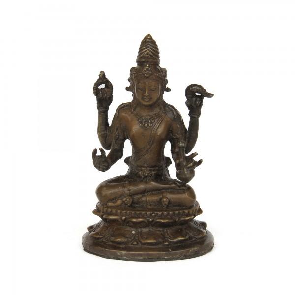 Shiva sitzend, bronze, T 9 cm, B 7 cm, H 13,5 cm