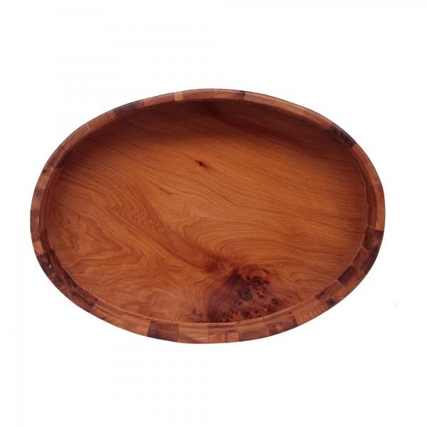 Tablett 'Thuja' L, braun, T 19,5 cm, B 27 cm, H 3,5 cm