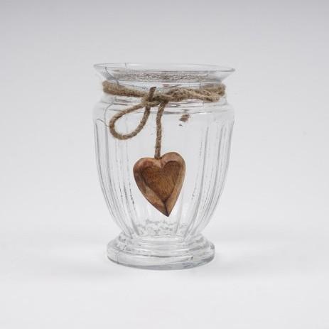 """Glasvase """"Small Heart"""" klein, Ø 11 cm, H 16 cm"""