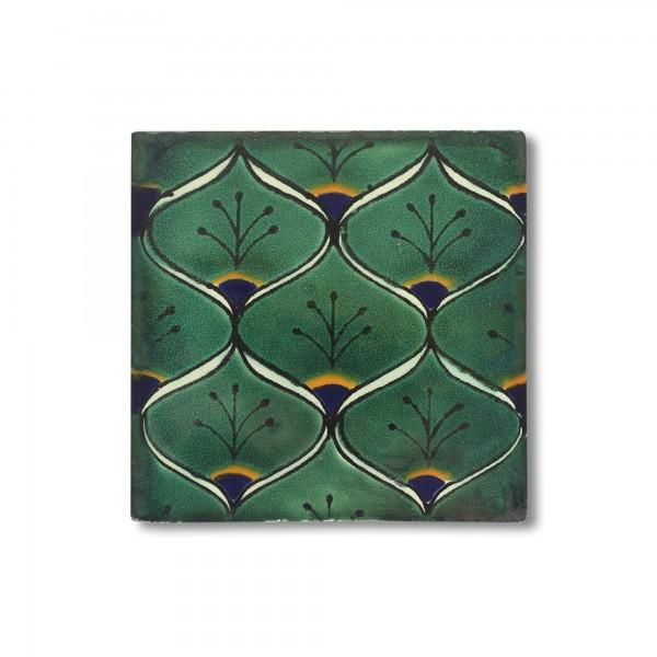 Kachel 'Pavo', multicolor, T 10 cm, B 10 cm, H 0,5 cm