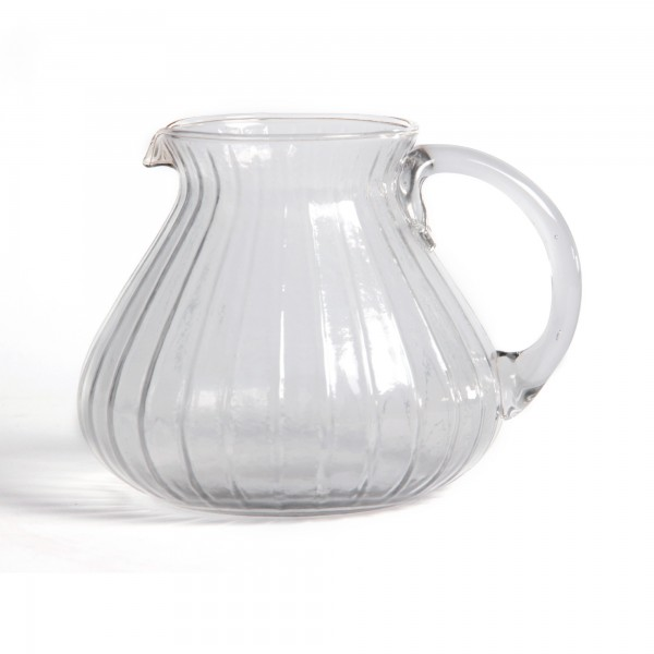 "Glaskrug ""Sevilla"", mundgeblasen, Ø 15 cm, H 13 cm"