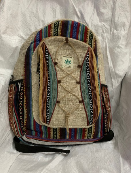 Rucksack Baumwolle, multicolor, B 32 cm, H 42 cm, T 12 cm