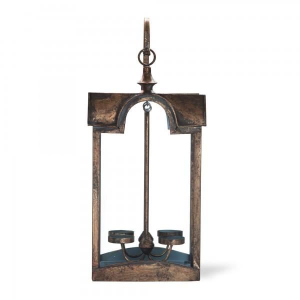 Wandlaterne 'Foston', 2 Teelichter, kupfer, T 10 cm, B 22 cm, H 50 cm