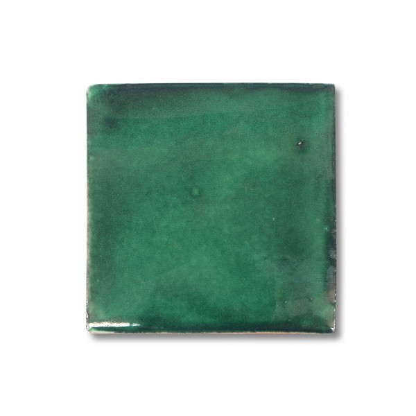 Kachel 'Verde', grün, T 10 cm, B 10 cm, H 0,5 cm