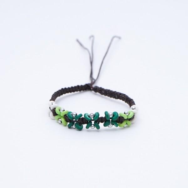 "Armband ""Luke"", handgefertigt, grün"