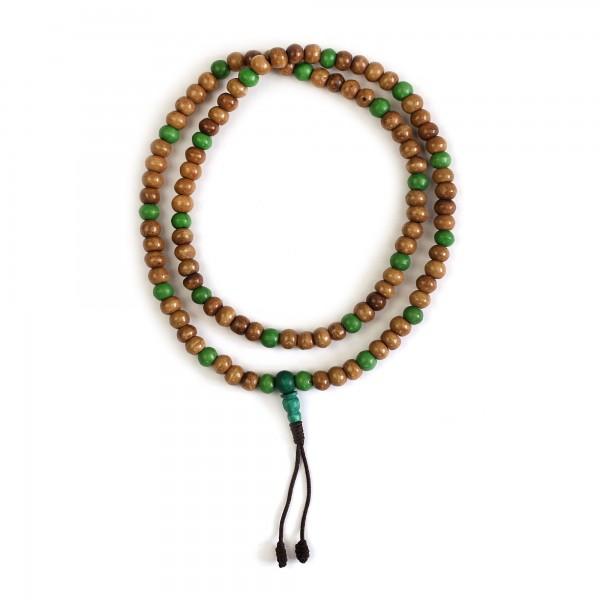 Mala Gebetskette, grün, natur, T 35 cm, B 8 cm