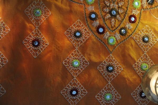 """Tischläufer """"Aladdin"""", orange/gold, L 150 cm, B 40 cm"""
