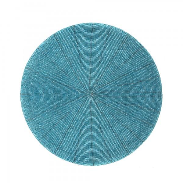 Ablage Glasperlen, aqua, T 30 cm, B 30 cm, H 0,3 cm