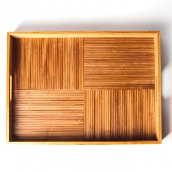 Tablett, natur, L 38 cm, B 50 cm, H 5 cm