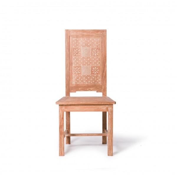 Stuhl 'Wayan', aus Teakholz, braun, L 42 cm, B 45 cm, H 102 cm