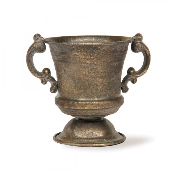 Pokal 'Avalon', messing-antik, T 12,5 cm, B 14,5 cm, H 17 cm