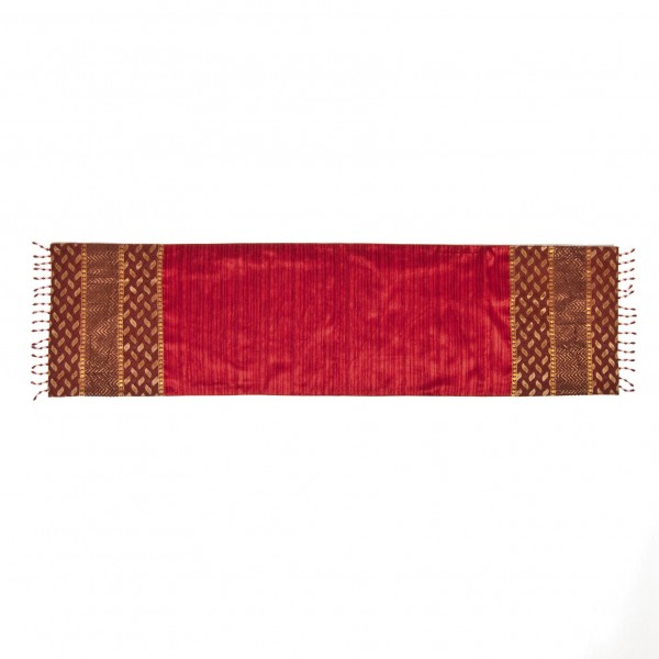 "Tischläufer ""Rani"", rot, L 155 cm, B 40 cm"
