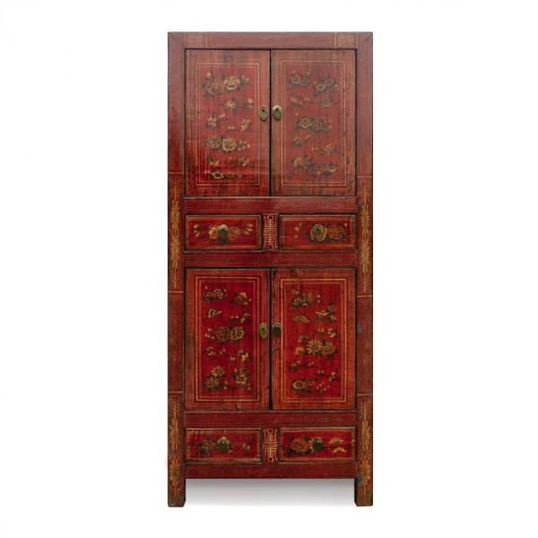 Chinesischer Schrank aus Ulmenholz, L 40 cm, B 75 cm, H 175 cm