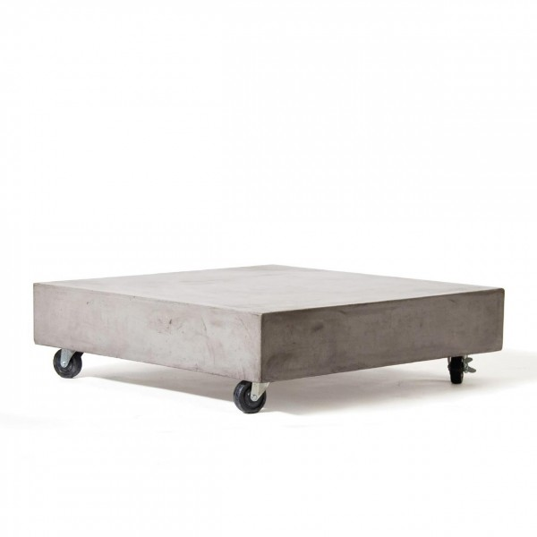 "Rolltisch ""Soho"", grau, H 23 cm, B 80 cm, T 80 cm"