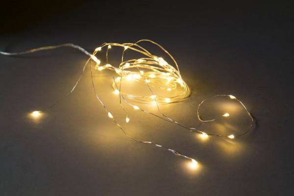 Lichtkaskade 50 LED, warmweiß , 5 Strippen, 110cm