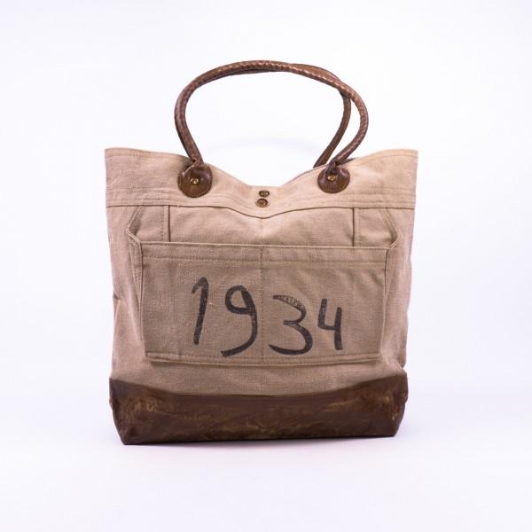 """Umhängetasche """"1943"""", beige/braun, B 38 cm, H 47 cm"""