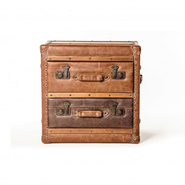 "Kommode ""Luggage"", braun, T 38 cm, B 52 cm, H 54 cm"