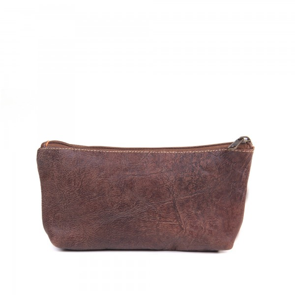 """Kulturtasche """"Finezzo"""", braun, aus Leder, B 24 cm, H 14 cm"""