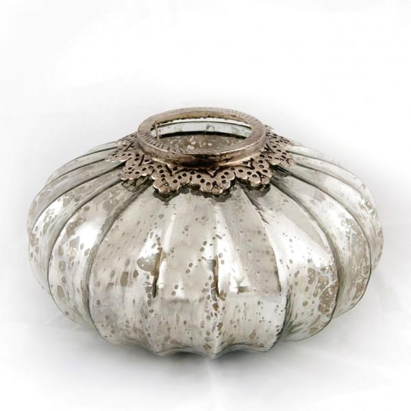 """Windlicht """"Pumpkin"""" L, silber, Ø 29 cm, H 16 cm"""
