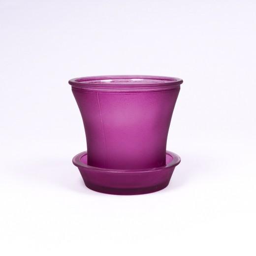 Glasblumentopf, Farbe: lila