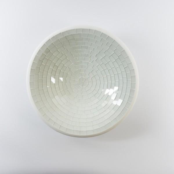 Glasmosaikschüssel, weiß, Ø 28 cm