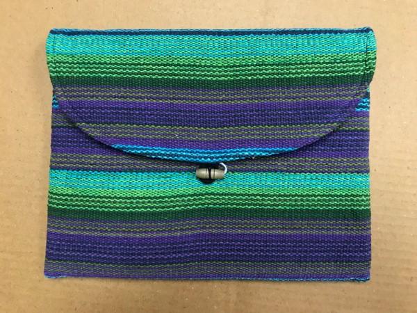 Tablet-Tasche, lila, grün, aqua, T 28 cm, B 21 cm