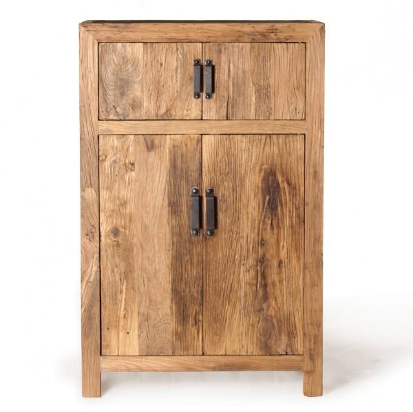 "Schrank ""Wuhan"" aus verwittertem Holz, L 45 cm, B 90 cm, H 140 cm"