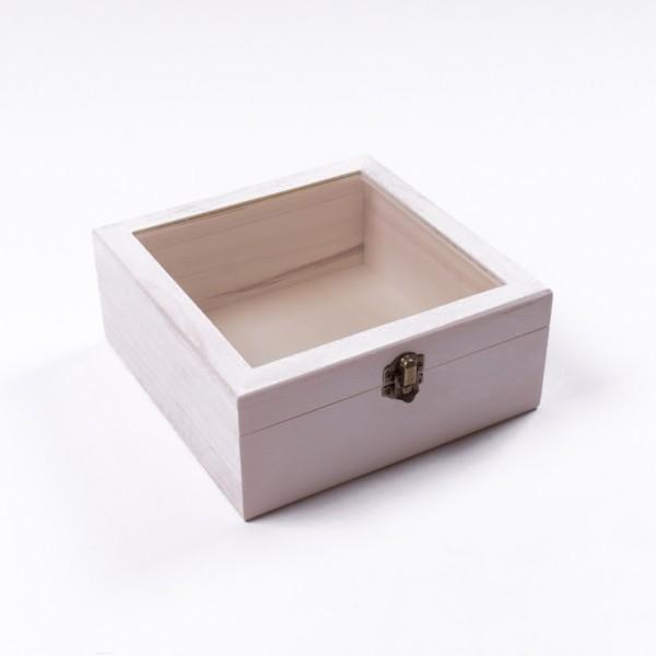 """Holzbox """"Baxian antique"""" mit Deckel, natur, L 20 cm, B 20 cm, H 8 cm"""