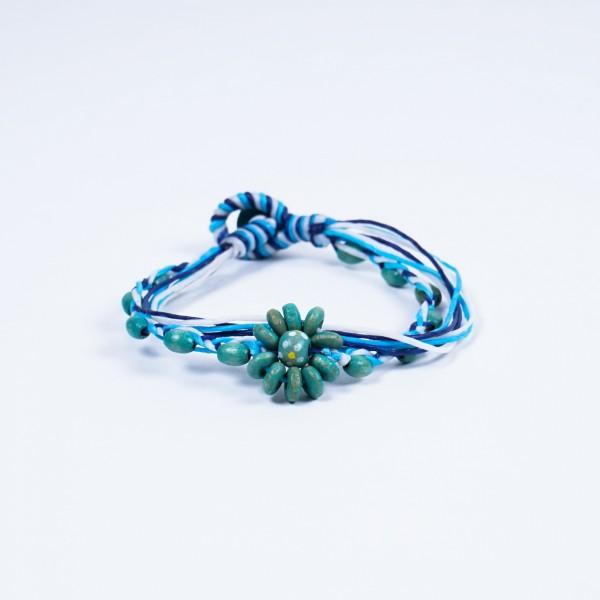 """Armband """"Lennard"""", handgefertigt, türkis/blau"""