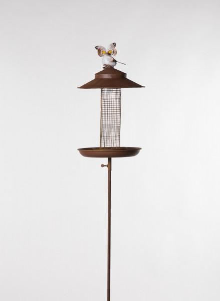 "Vogelfuttersilo ""Uhu"", rostbraun, Ø 21 cm, H 128 cm"