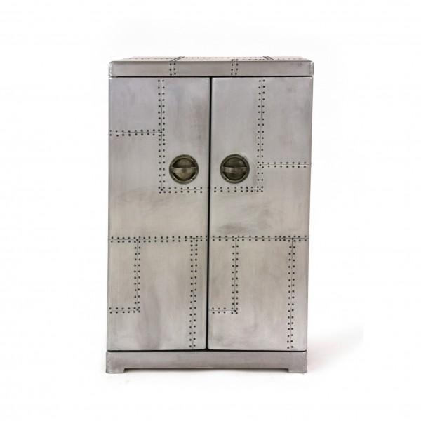 Theke/Bar 'Buckson', silber, L 55 cm, B 71 cm, H 112 cm