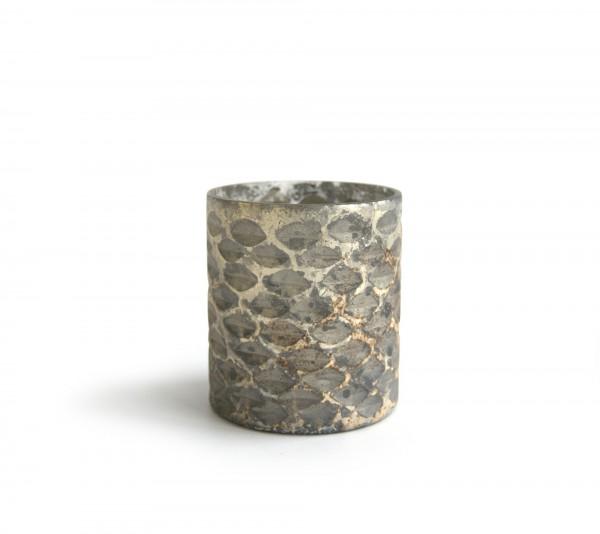 """Teelichthalter """"Votive S"""", antik-silber, Ø 7 cm, H 8 cm"""